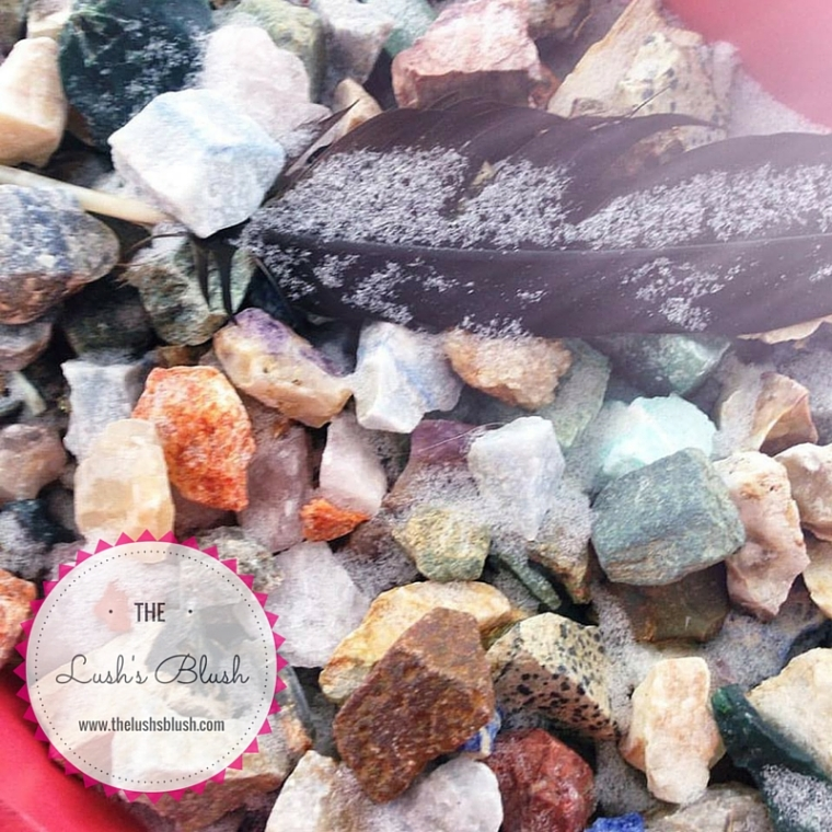 Crystals in the snow at The Lush's Blush