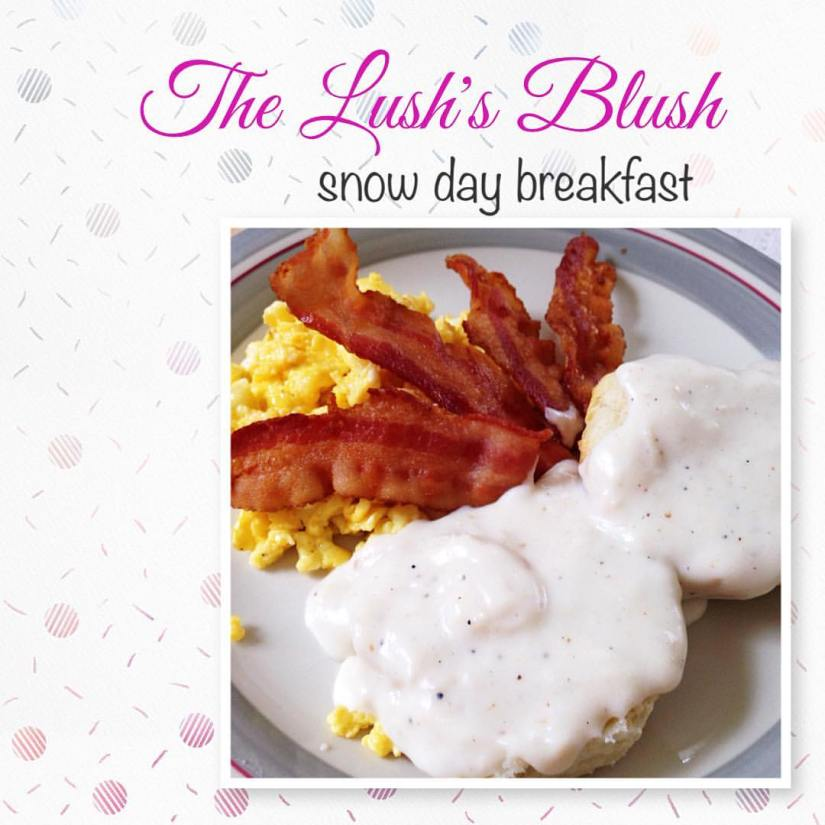 Biscuits and bacon gravy | The Lush's Blush blog