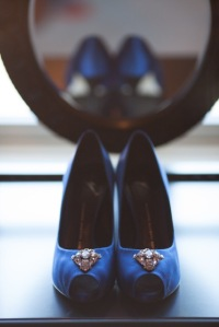 Blue wedding shoes | The Lush's Blush blog