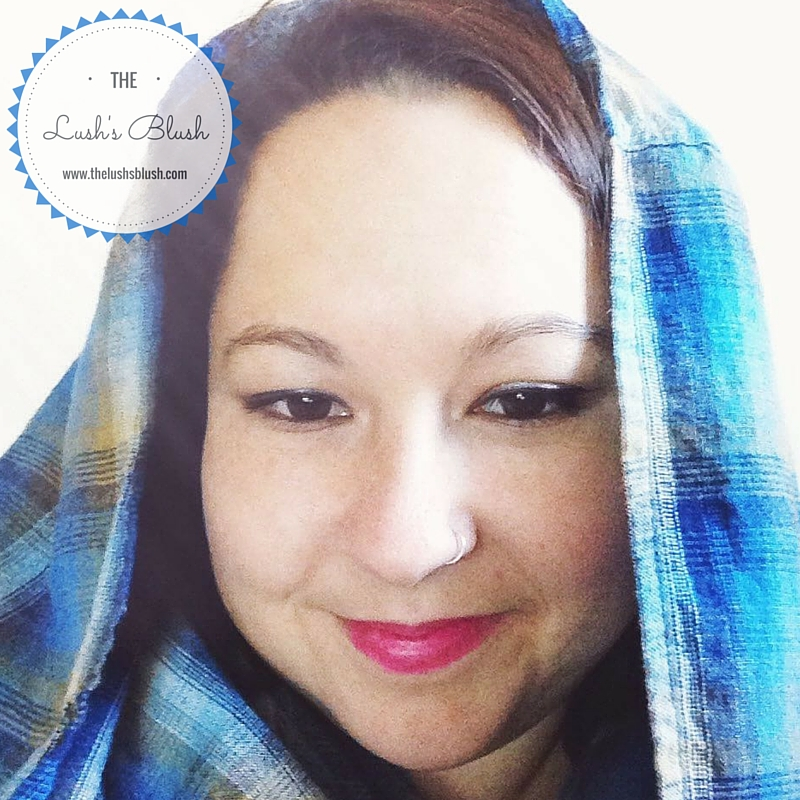 Blue flannel infinity scarf | The Lush's Blush blog