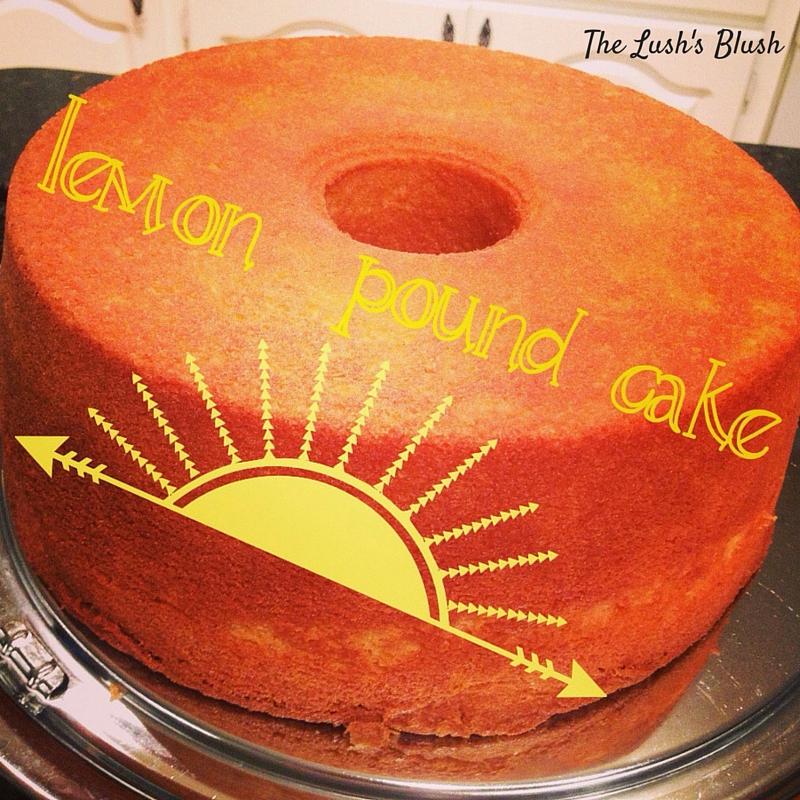 Lemon Pound Cake | The Lush's Blush blog