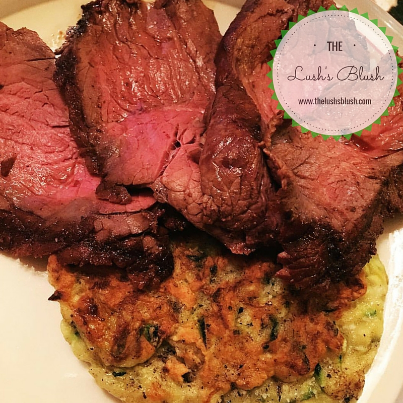 London broil and zucchini fritters | The Lush's Blush blog