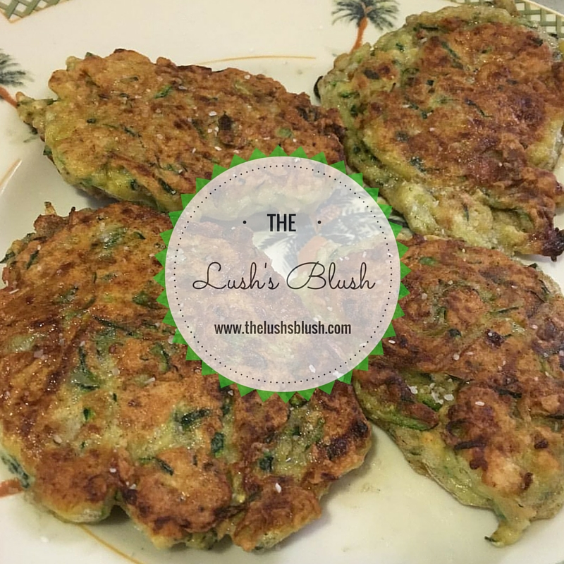 zucchini fritters | The Lush's Blush blog
