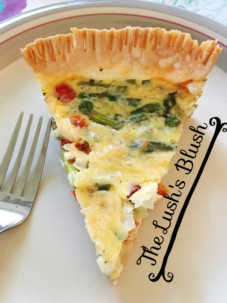 Asparagus and cherry tomato quiche | The Lush's Blush blog